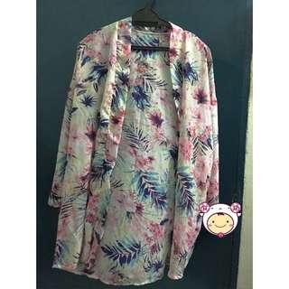 Printed Kimono Cardigan