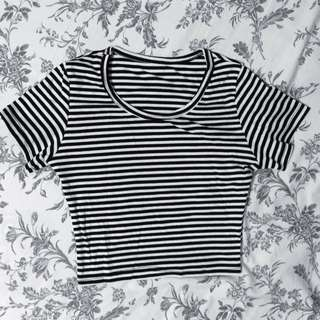 Basic Stripe Crop Top