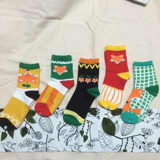 文青淘氣中筒襪