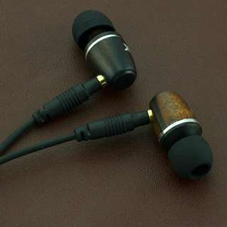 DIY Ebony Wooden Earphones, with removable cables
