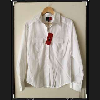 Quality Corporate White Soft King Gee Shirt - Women's - Size 12