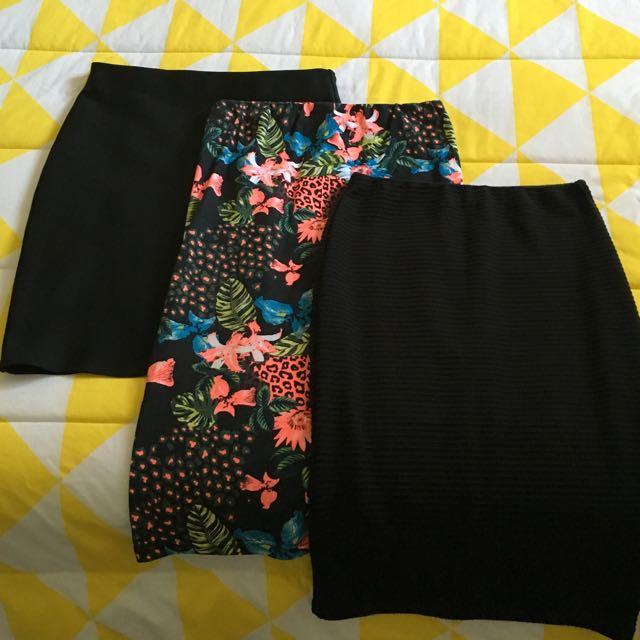 3x Skirts $15 FREE POSTAGE (size 8)
