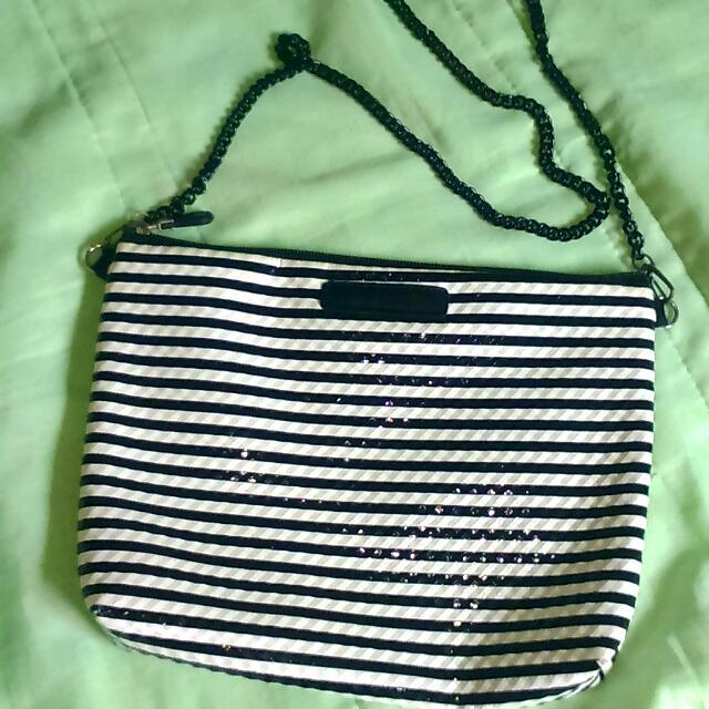 條紋款側背包