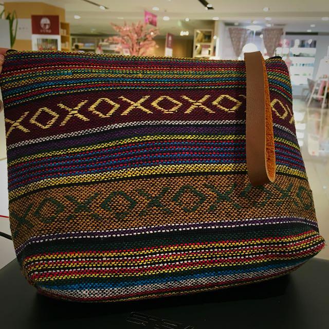 👒泰國 民俗風情編織手腕包