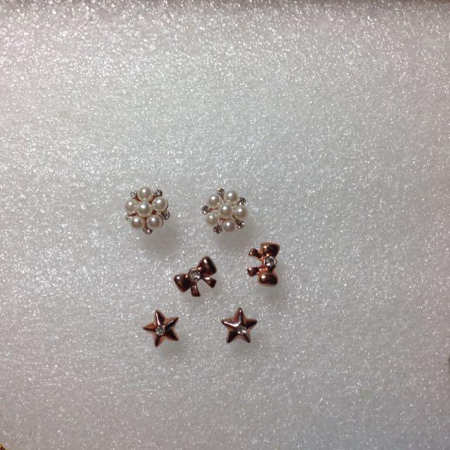 六小福 星星 蝴蝶結 小珍珠