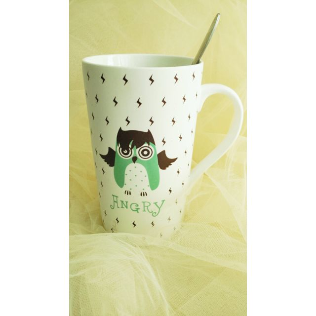 AC01-015 Mug Sale / Gelas Owl Tanpa Tutup CUCI GUDANG