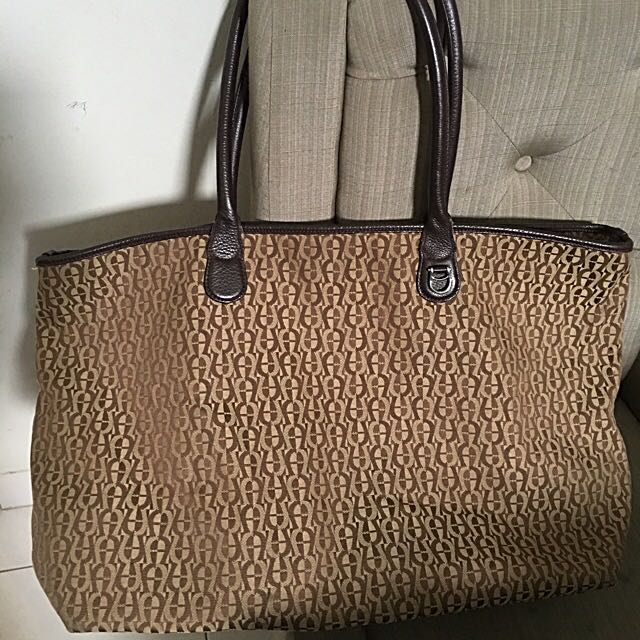 Aigner Monogram Tote Authentic Bag