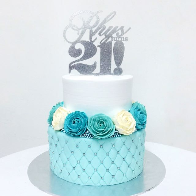 Customized Two Tier Birthday Cake Womens Fashion On Carousell