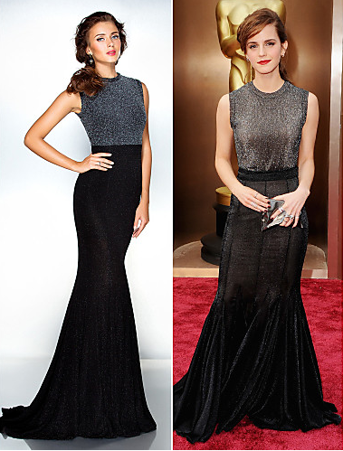 Formal Evening Dress - Black Plus Silver / Petite Trumpet/Mermaid Jewel Sweep/Brush Train Jersey