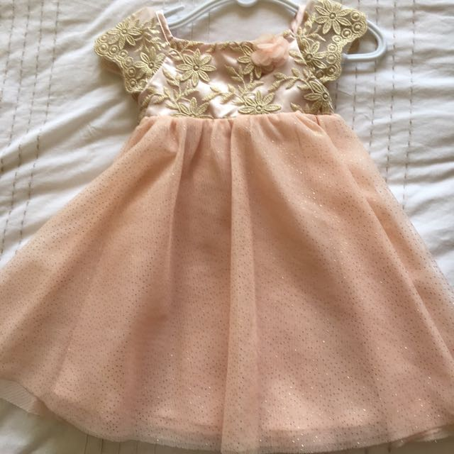 Gold Baby Girls Dress Set 0-12moths