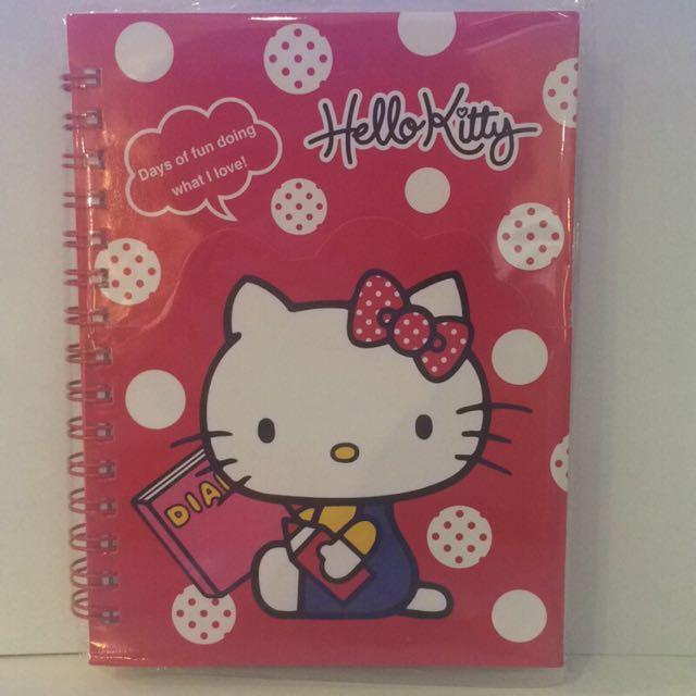Hello kitty 造型夾袋筆記本