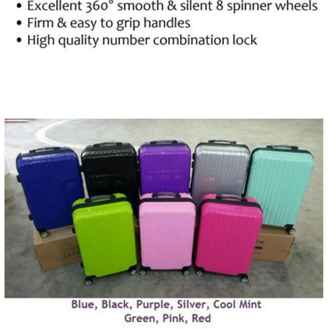 0ce288bc0ea ☆INSTOCK☆New Arrival 5 Colours☆Hard Shell 8 Wheel Spinner Deluxe Luggage  Trolley Case 20 24 28 inch