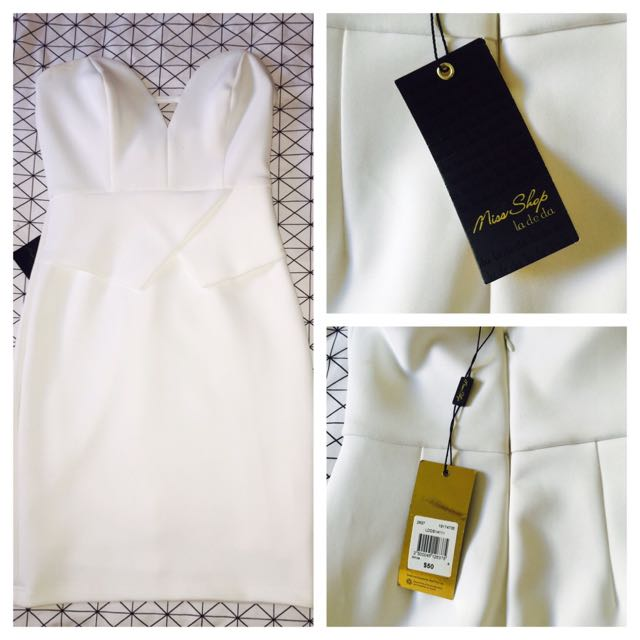 NEW WITH TAGS WHITE DRESS