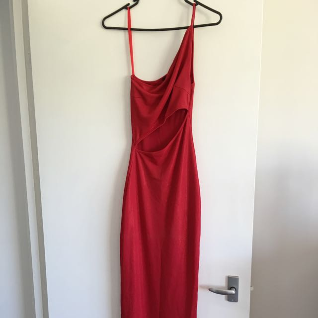 Shimmer Red Formal Dress