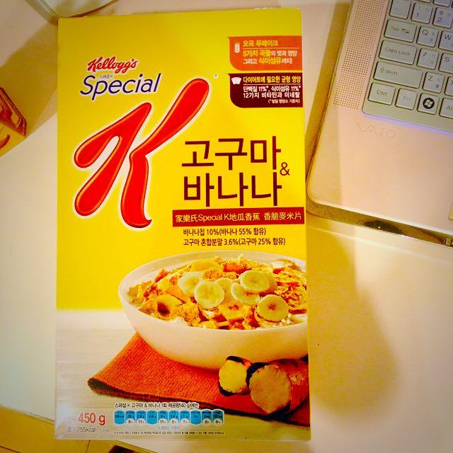🍠🍌家樂氏Special K地瓜香蕉香脆麥米片