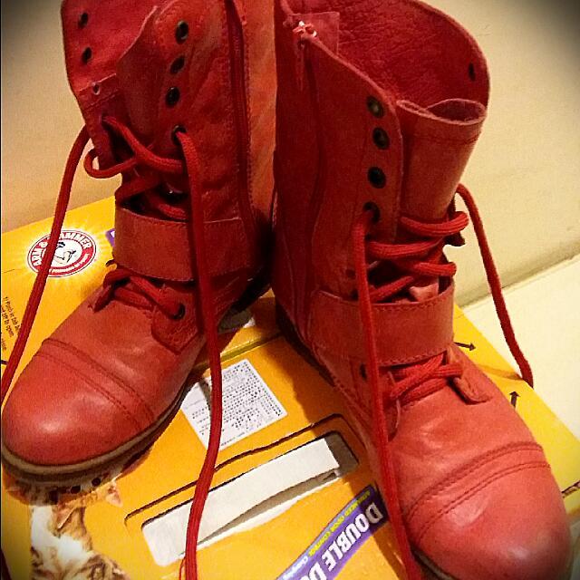 專櫃STEVE可反折皮鞋
