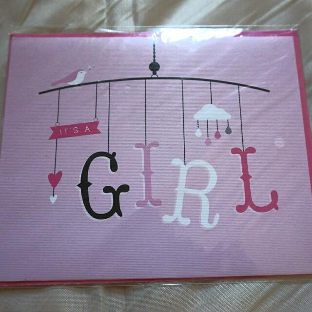 🆕TYPO Welcoming Baby Girl Card