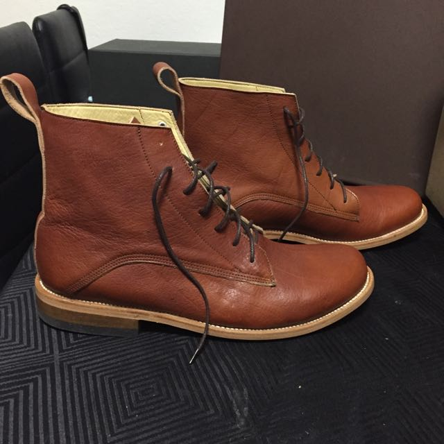 Unmarked Handcrafted Brown Boots