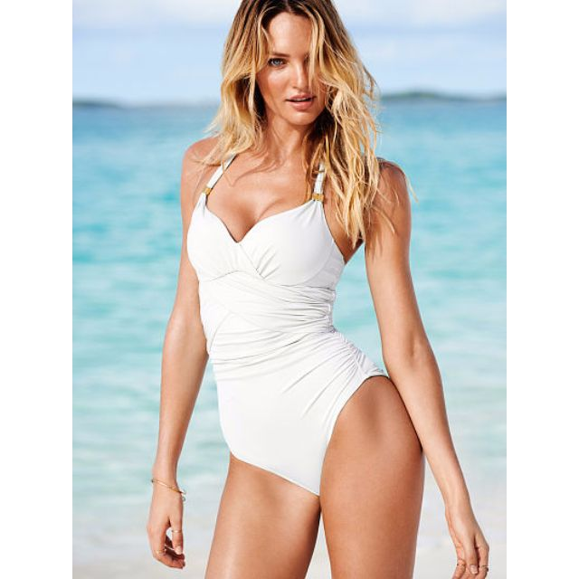 9015b13dad  Ready Stock  Victoria s Secret inspired unforgettable one piece ruched  monokini swimsuit