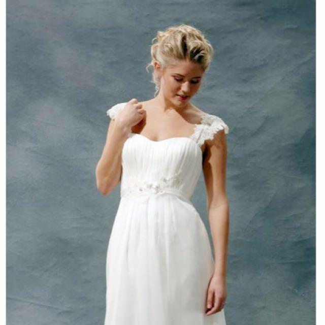 Wedding Dress Organza & Lace Size 8-10