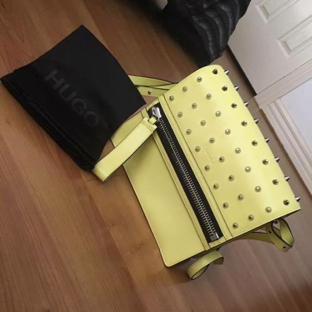Yellow Hugo Boss Bag