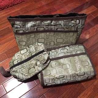 🚚 皮包 收納 包中包 三件一組