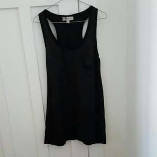 Black Singlet T Shirt Dress
