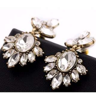 Crystal insert earrings