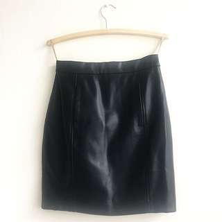 Forecast Pleather Skirt