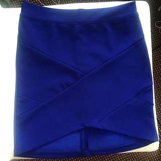 Chicabooti Blue Mini Bandage Skirt
