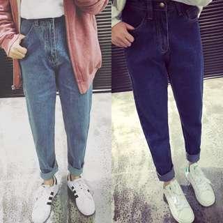 ✨預購免運✨顯瘦寬鬆BF風牛仔長褲
