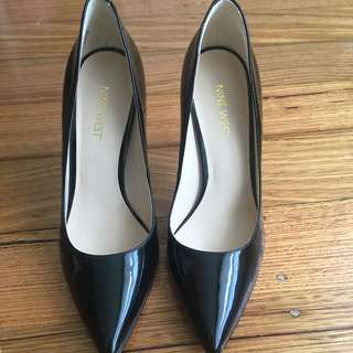 Nine West Black Patent Stiletto Heels
