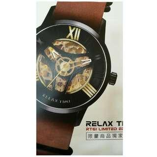RELAX TIME 限量機械錶,訂價$17700 ☺限量鏤空機械套錶又出新款了 6/15前購買,及可享有訂價的五折優惠 加碼贈送(不鏽鋼錶帶一條) 加碼贈送(10入手錶收藏盒一個)