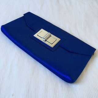 Adorne Blue Evening Clutch Bag