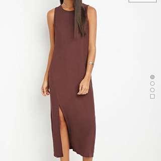 BNWT Forever 21 Midi Dress With Slit