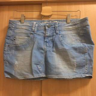 全新💫Zara trf 牛仔短裙