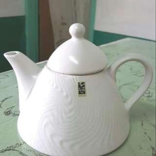 手描水紋陶茶壺
