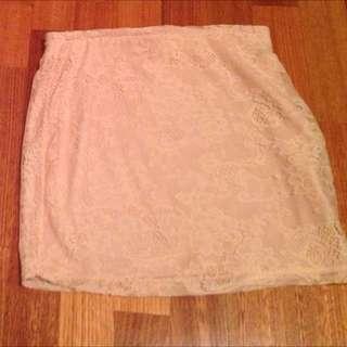 Light Pink Lace Skirt