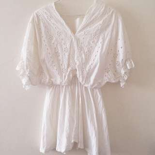 氣質風甜美白洋裝