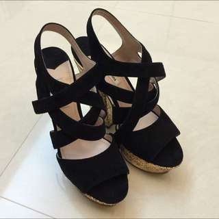 Miu Miu高根涼鞋(Size38)