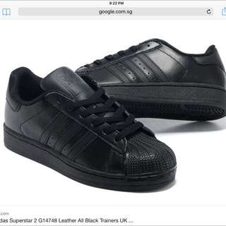 Authentic Adidas Superstar All Black