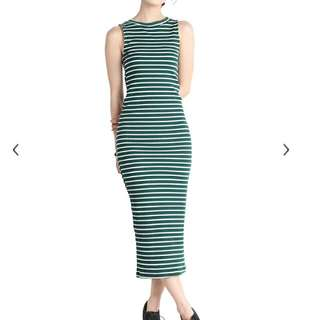 3 For RM50 The Tinsel Rack Green Stripes Dress