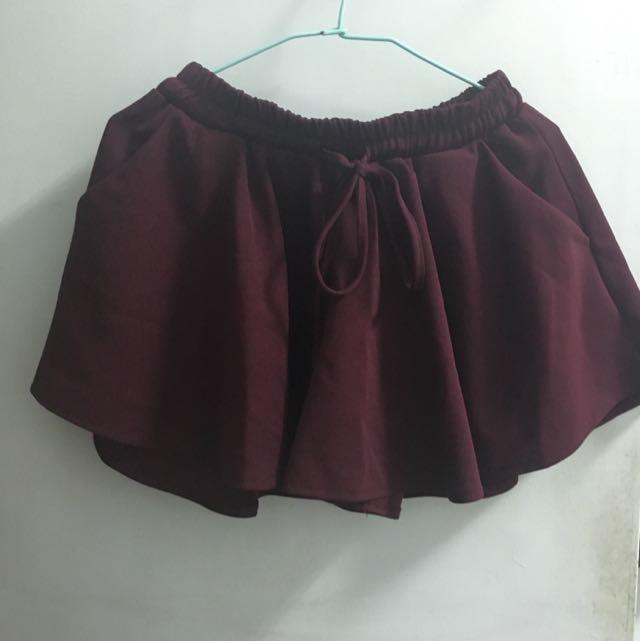 含運~酒紅褲裙