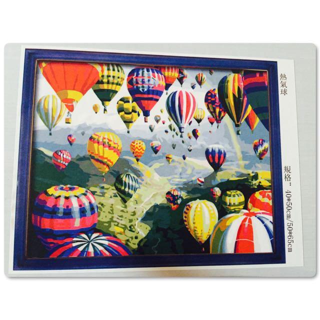 創意油畫 -熱氣球
