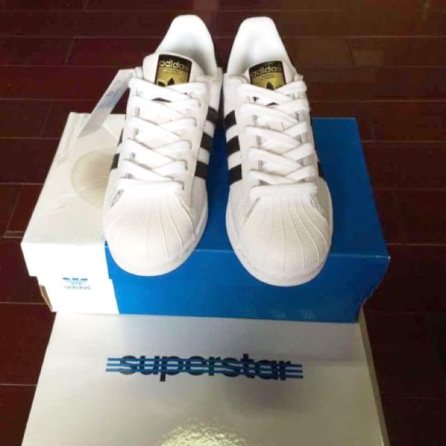 國外補貨 Adidas Superstar 金標黑白