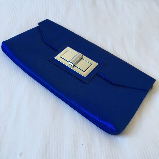 Adorne Blue Evening Clutch Bag