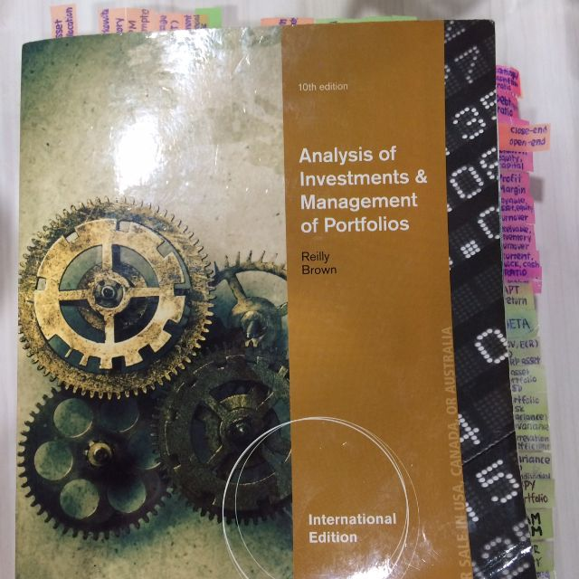BAFI1045 Investment Textbook 10th edition Reilly Brown