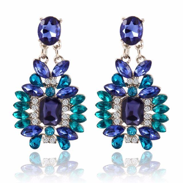 Bohemian Crystal dangle Earrings