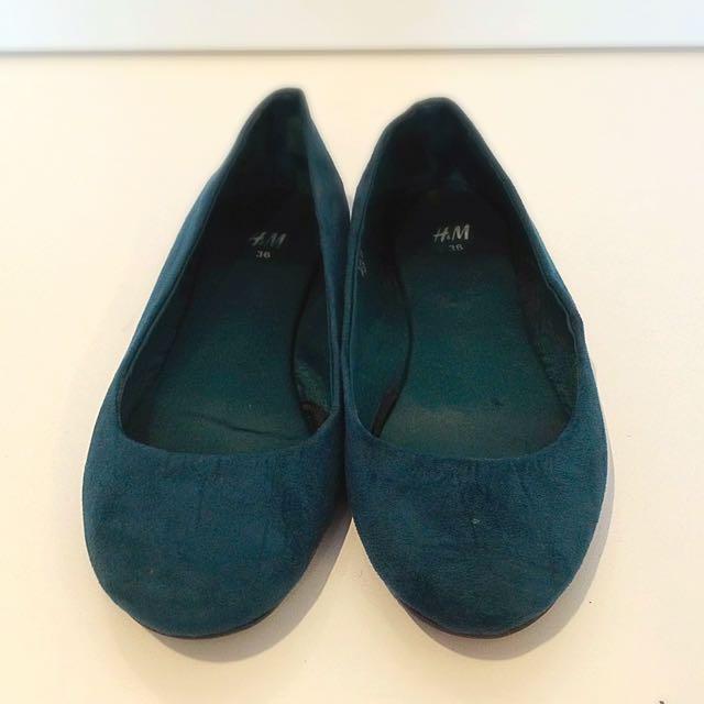 Dark Green Ballet Flats
