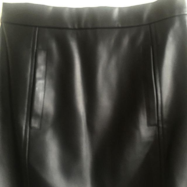 Forecast Pleather Skirt